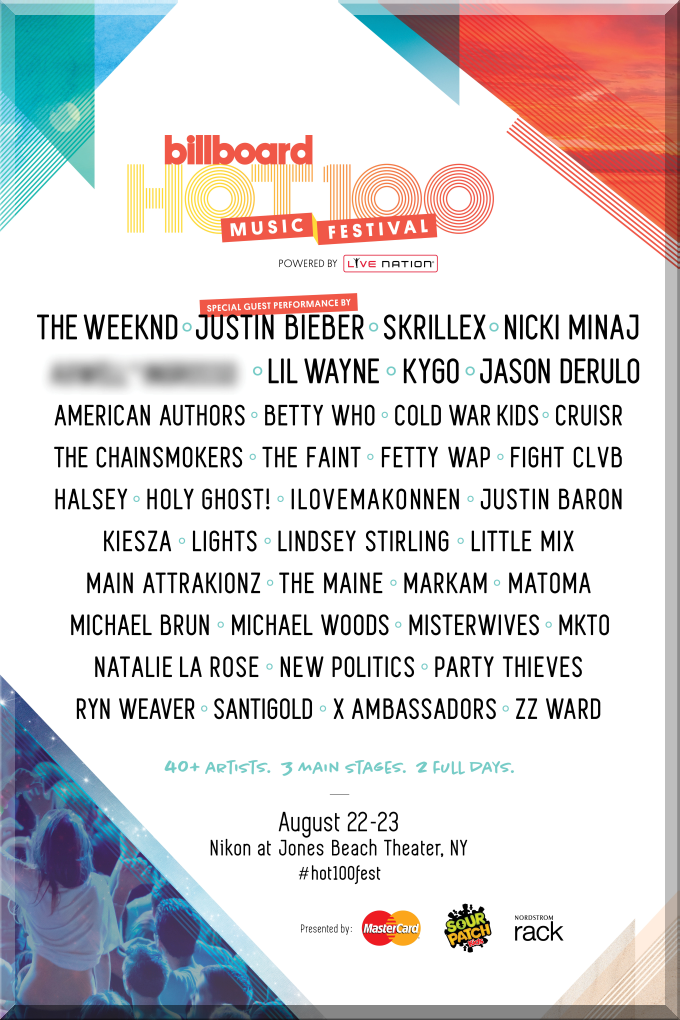 BILLBOARD HOT 100 MUSIC FESTIVAL 2015 NY