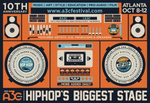 A3C 2014 boombox poster