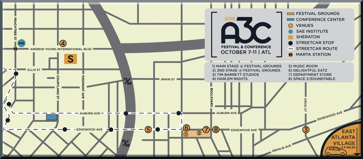 A3C Event Schedule Map 2015